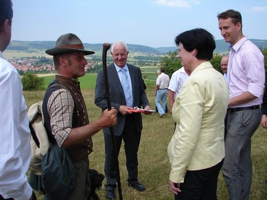 Am 17. Juli 2013 besuchte Ministerpräsidentin Christine Lieberknecht die Rhön