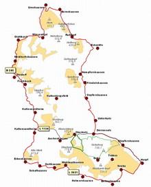Die Karte zeigt die Lage des Schäferweges im Projektgebiet