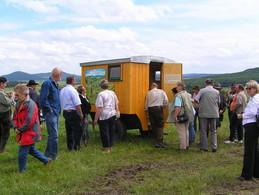 Einweihung eines original Rhöner Schäferwagens