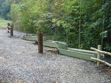 Um die Aufenthaltsdauer der Schafe auf diesen Flächen zu erhöhen, wurde hier eine Tränkanlage errichtet. (Foto: LPV)