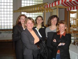 v.l. Projektleiterin P.Ludwig, U. Maier (VAfB) , C. Schmelzeisen (BfN) S. Schleip (INL), A. Balzert (BfN) (Foto: F. Meyer)