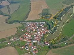 Bei der Befliegung 2014 präsentiere sich das Hutungsband am Lämmerberg wieder in einem guten Pflegezustand - ohne Kieferngehölze.