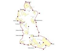 Die Karte zeigt die Lage des Hexenpfades im Projektgebiet